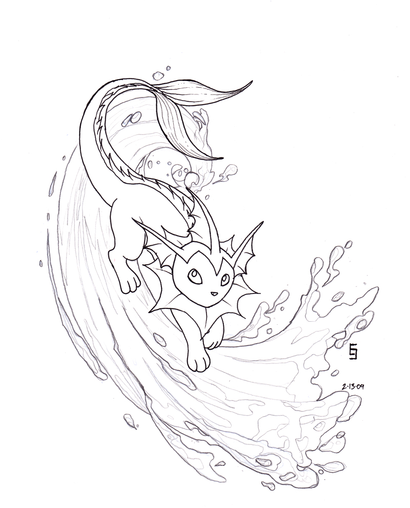 pokemon vaporeon coloring pages - photo#16