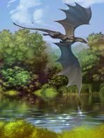 Dragon's river by Ales-fera