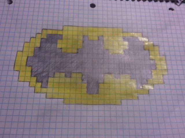 Batman On Graph Paper Romeondinez