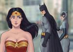 Batman checking out Wonder Woman