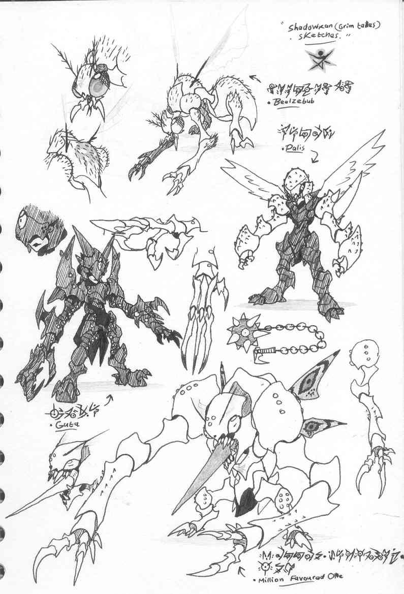 Alternative monster ideas05 by Kainsword-Kaijin