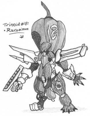 Trinoid-18: Rakopiman by Kainsword-Kaijin on DeviantArt