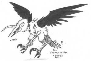 Stymphalian birds by Kainsword-Kaijin