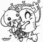 Penny with Gumball Plushie by Kainsword-Kaijin