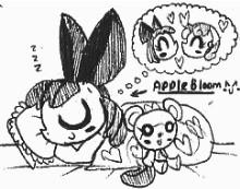 Sleeping Applebloom by Kainsword-Kaijin