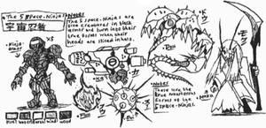 5 Space-Ninjas sketches