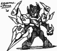 Zack-Lexamus' Human-sized Battle-Mode by Kainsword-Kaijin