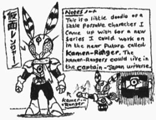 [Kamen-Ranger] KR-No.01 doodles by Kainsword-Kaijin