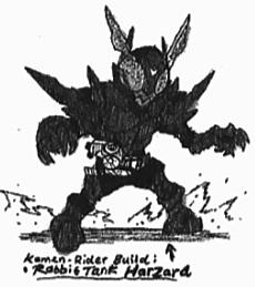 Kamen-Rider Build RabbitTank Hazard Form by Kainsword-Kaijin