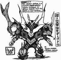 [Black-CRISIS] Kaijin-Mutant Rider-Golem by Kainsword-Kaijin