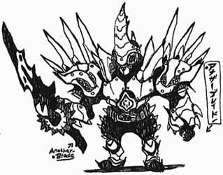 Kaijin-Rider Another-Blade by Kainsword-Kaijin
