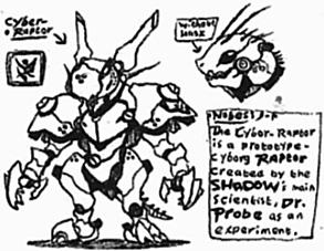 [SHADOW] Cyber-Raptor by Kainsword-Kaijin