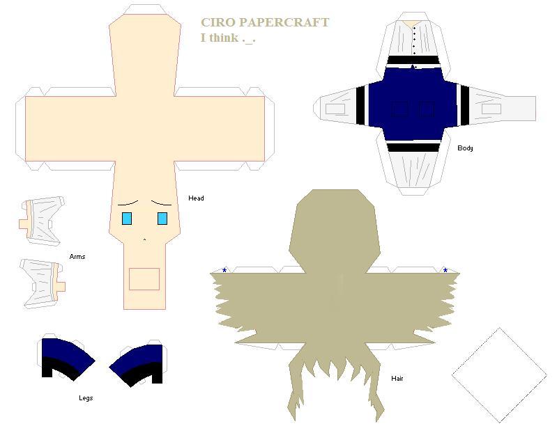 Ciro Papercraft -I think XDUu- by TenienteSumimi