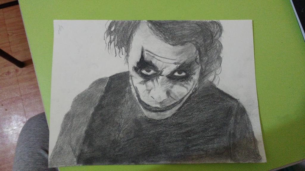 Joker - Heath Ledger (charcoal and graphite) by kuleli5153