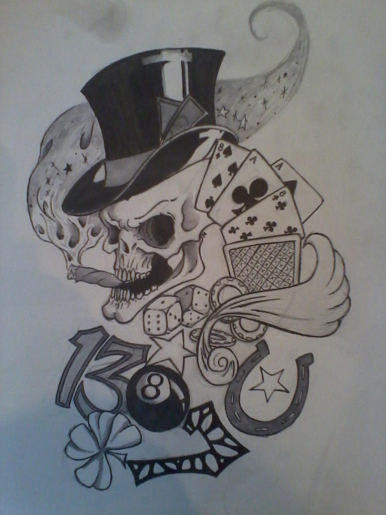 lucky charm tattoo design by marv998