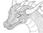 Dragon Head Lineart