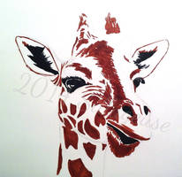 first try with copics: giraffe by Sillageuse