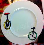 Unicylce (painting on plate)