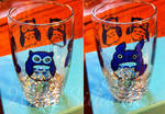 Totoro Owls (painting on cup)