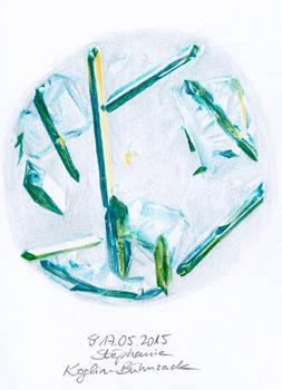 #005: KaMnO4 and NaCl (crystallised, 45x enlarged)