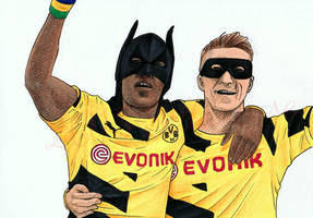 Work in Progress: BVB players Auba and Reus by Sillageuse