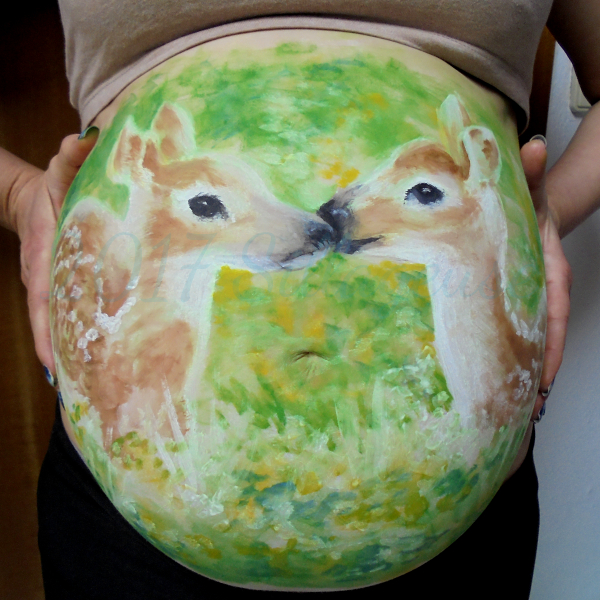 Fawns (body painting)