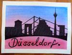 Duesseldorf greeting card