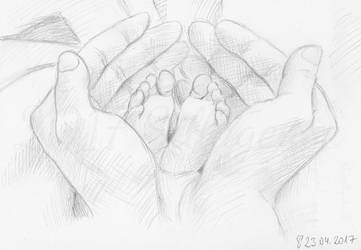 Babyfeet sketch by Sillageuse