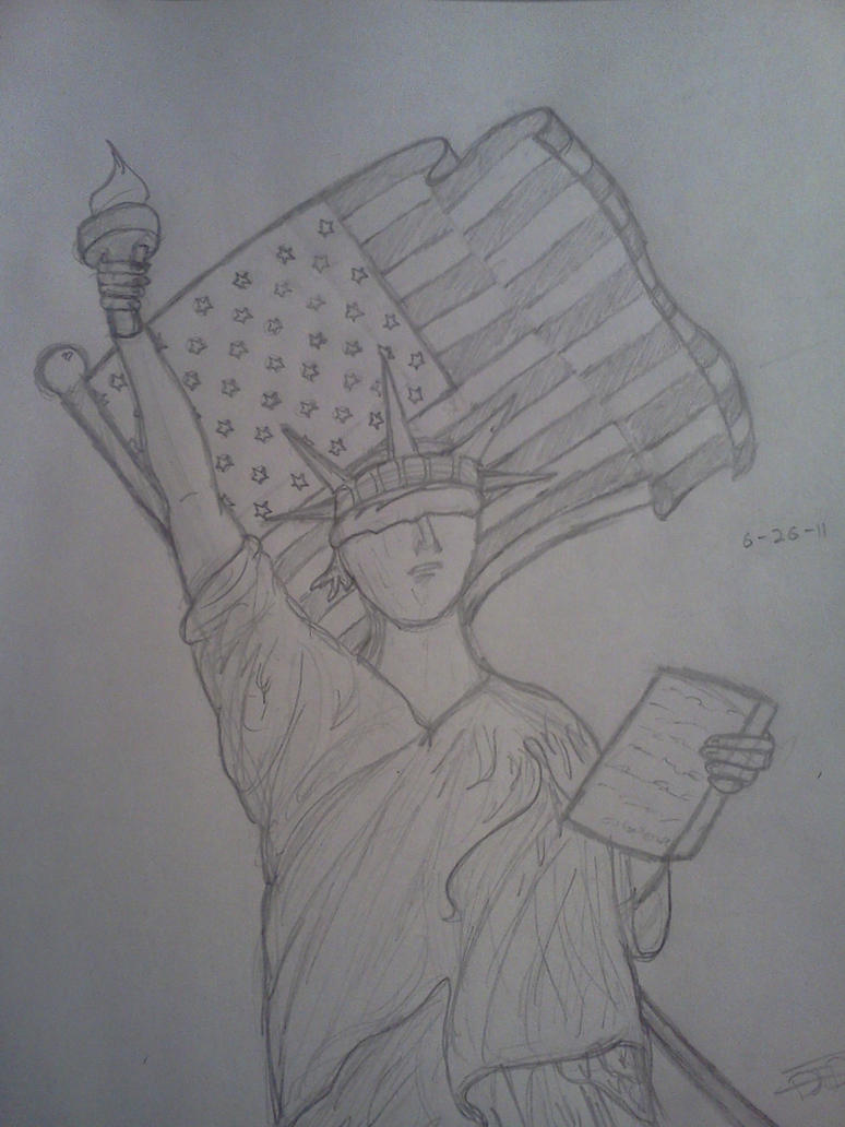Blindfolded Statue of Liberty by Armageddon77