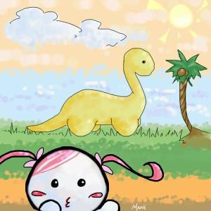 M.G. vs Dino by mariehchan