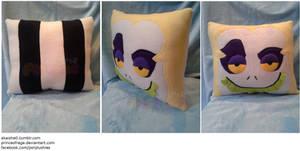 Beetlejuice Square Face Pillow