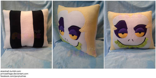 Beetlejuice Square Face Pillow