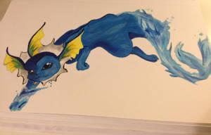 Pokemon-Vaporeon Painting by Loki-Targaryen