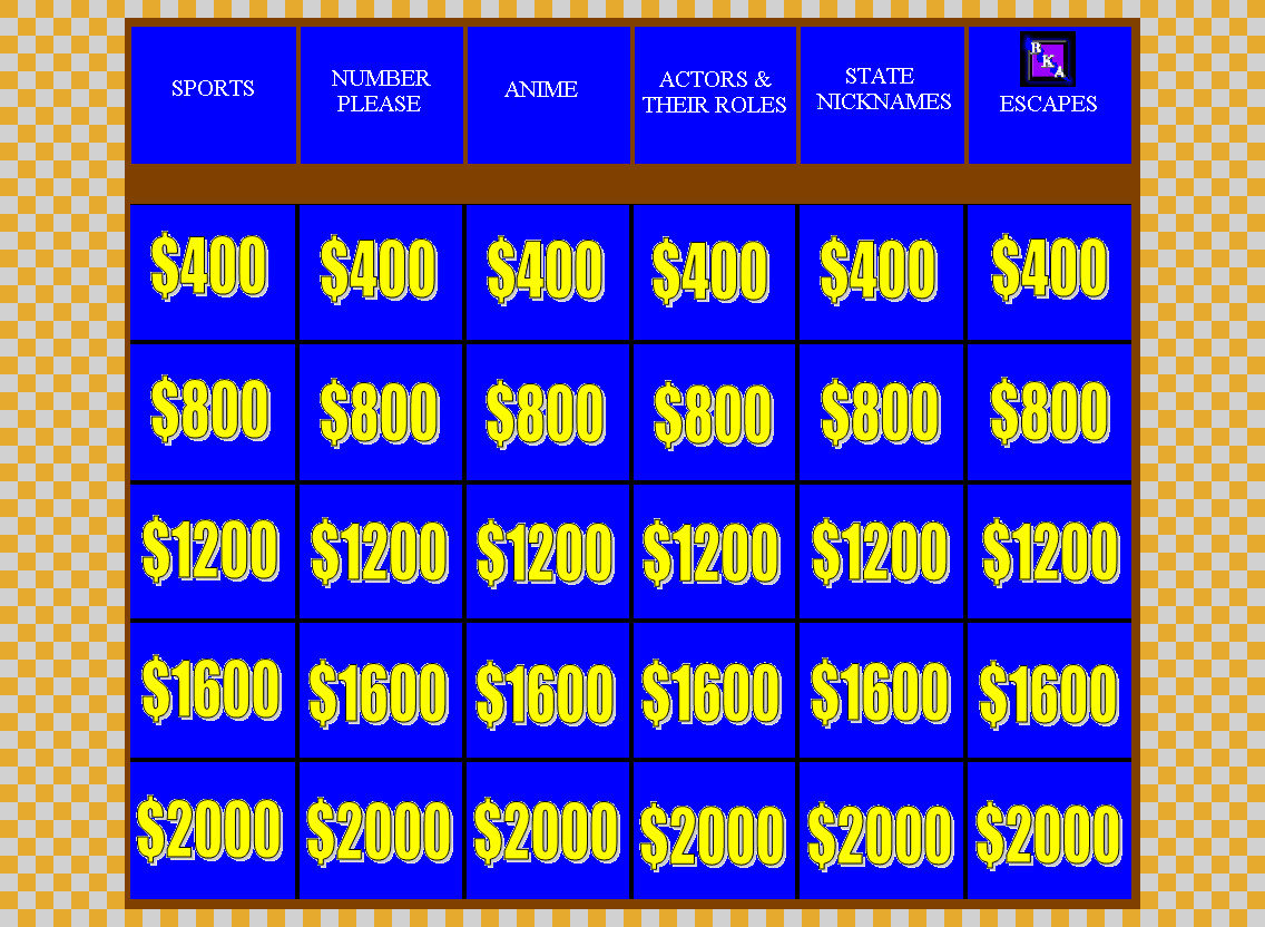 Double Jeopardy round Board by BKA-Chief on DeviantArt