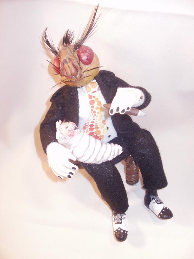 Mr.Flyman and larvae baby by oddollsdotnet