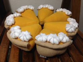 Whole pumpkin pie plushes    For Sale by LeslysPlushes