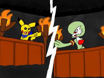 Pocket monsters X Gyakuten Saiban Aka Ace Attorney by Klonoahedgehog