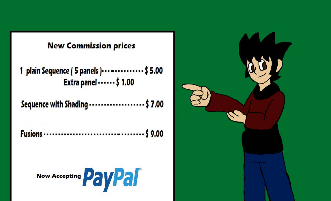 PayPal commission prices. Commissions open!