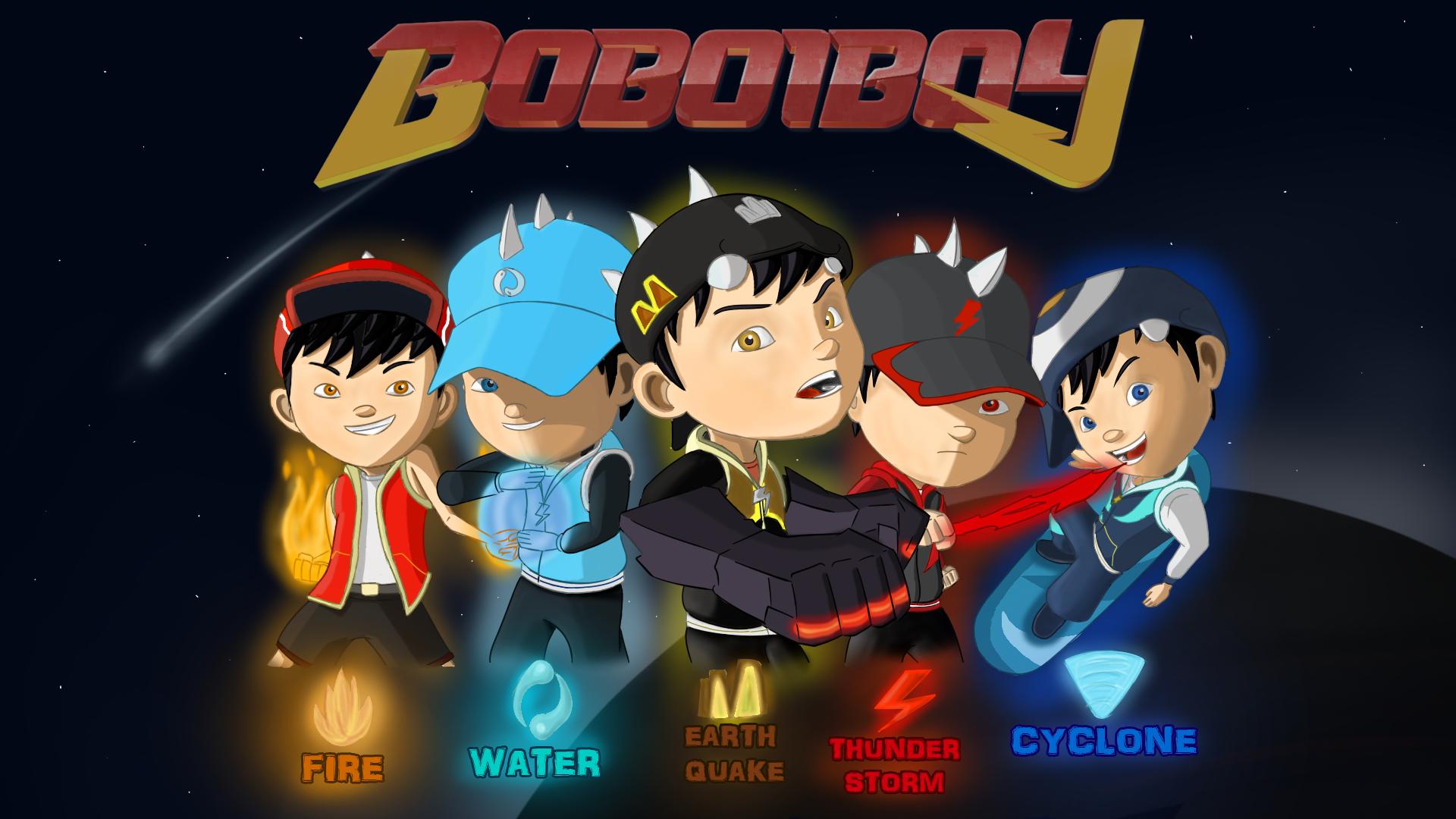 boboiboy galaxy fang kids super heroes