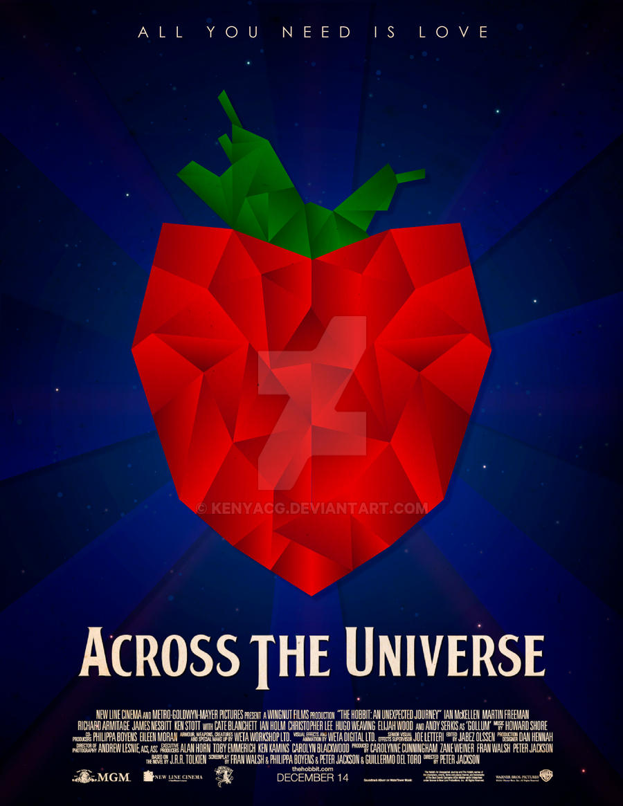 across the universe poster by kenyacg on deviantart