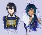 Same Voice Actors- Mikazuki and Kaeya