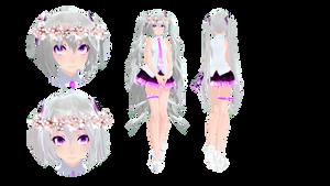 Tda Silver Sakura Miku by Lunarin72
