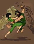 Toph and Haru Rock vs Rock