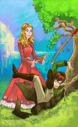 Rand and the Daughter Heir Clr by liruichen