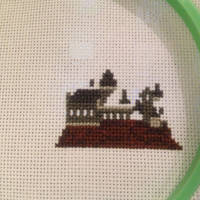 Hogwarts cross stitch round 2
