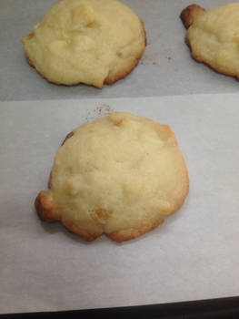 Lemon Sugar Cookies with Crystallized Ginger