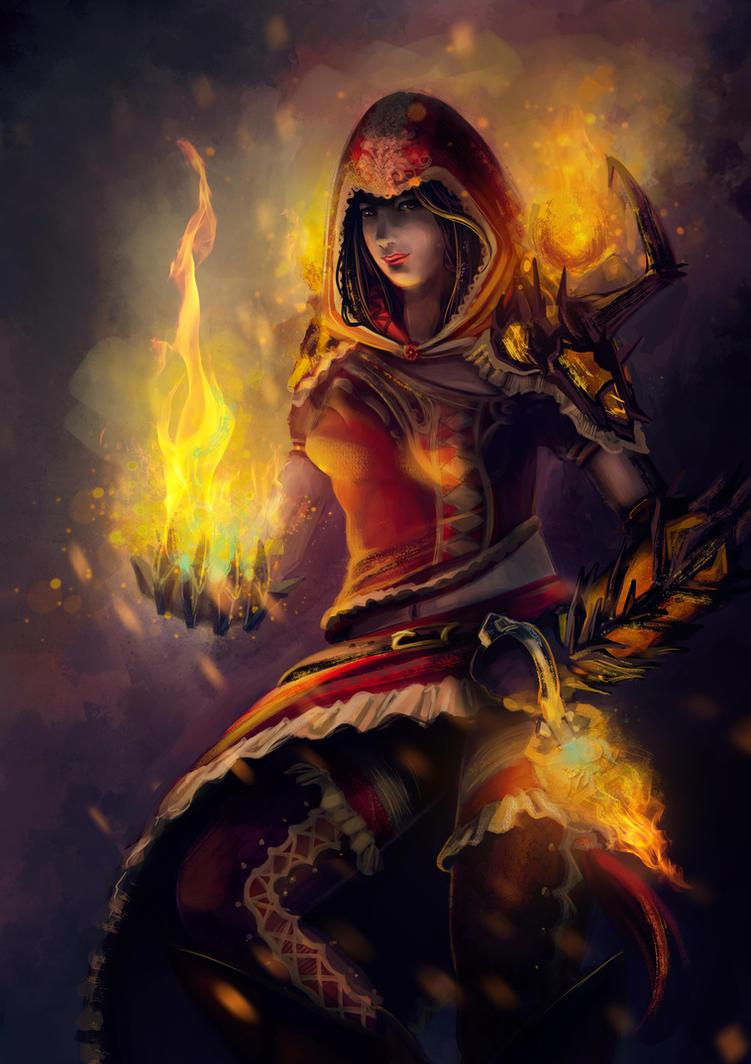 Guild Wars 2 - Elementalist by Scarlia