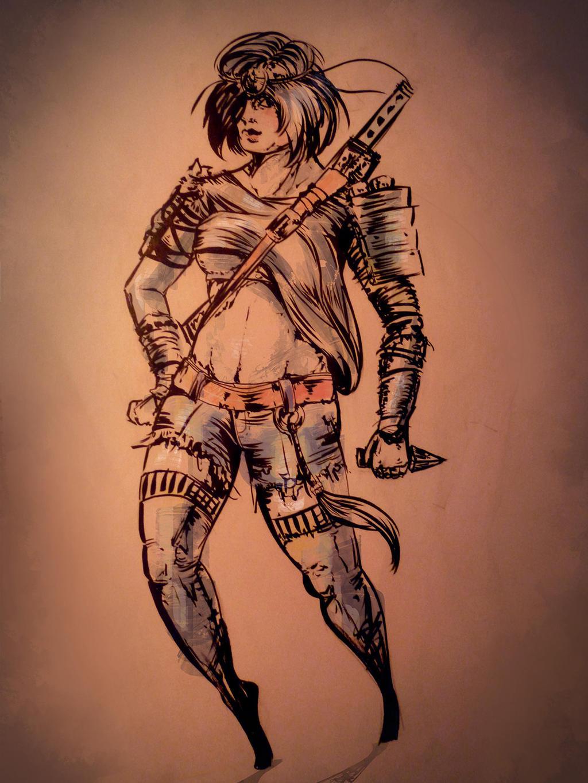 Hetai warrior sketch porn girl