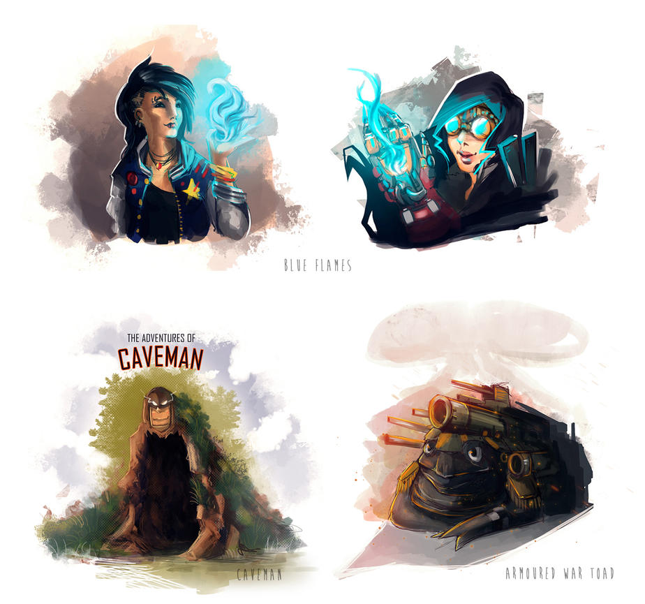Random Sketches by Scarlia