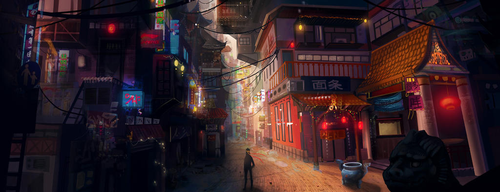 Chinese City by Scarlia